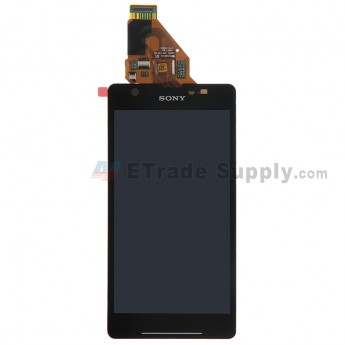 For Sony Xperia ZR M36h LCD Screen and Digitizer Assembly Replacement - Black - With Logo - Grade S+