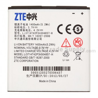 For ZTE Concord V768 Battery Replacement (1400mAh) - Grade S+