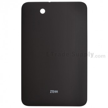For ZTE Light Tab 2 V9A Battery Door Replacement - Black - With Logo - Grade S+