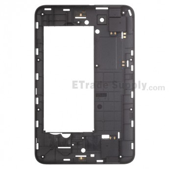 For ZTE Light Tab 2 V9A Middle Frame  Replacement - Black - Grade S+