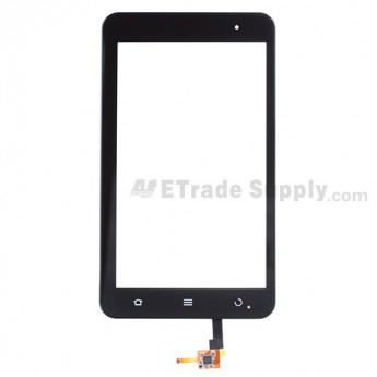For ZTE Light Tab 2 V9E Digitizer Touch Screen with Front Housing Replacement - Black - Grade S+