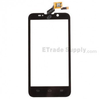 For ZTE Majesty Z796C Digitizer Touch Screen Replacement - Black - With Logo - Grade S+