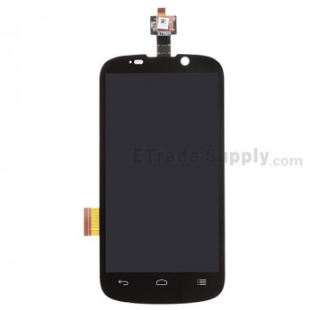 For ZTE Warp Sequent N861 LCD Screen and Digitizer Assembly Replacement - Black - Grade S+