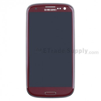For Samsung Galaxy S III (S3) GT-I9300 LCD Screen and Digitizer Assembly with Front Housing Replacement - Red - Grade S+