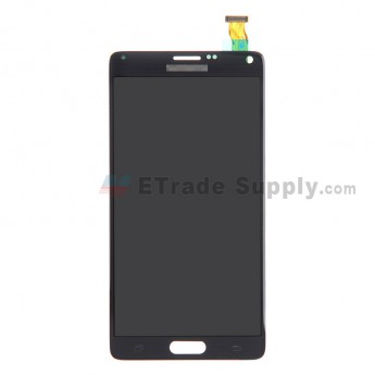 For Samsung Galaxy Note 4 SM-N910 LCD Screen and Digitizer Assembly Replacement - Black - With Logo - Grade A