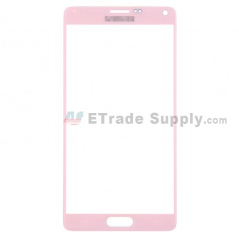 For Samsung Galaxy Note 4 Samsung-N910/N910A/N910V/N910P/N910T/N910F/N910R4/N910W8 Glass Lens Replacement - Pink - With Logo - Grade S+
