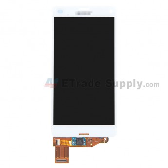 For Sony Xperia Z3 Compact LCD Screen and Digitizer Assembly Replacement - White - With Logo - Grade R
