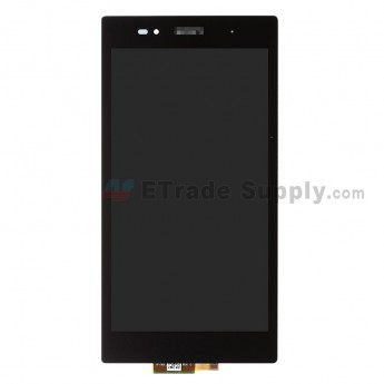 For Sony Xperia Z Ultra XL39h LCD Screen and Digitizer Assembly Replacement - Black - With Logo - Grade A