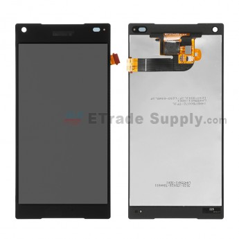 For Sony Xperia Z5 Compact LCD Screen and Digitizer Assembly Replacement - Black - With Logo - Grade R