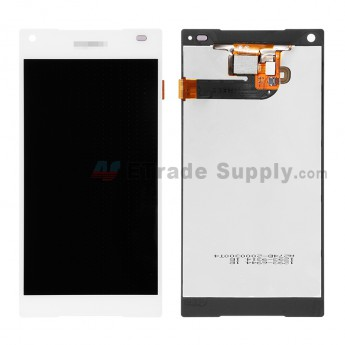 For Sony Xperia Z5 Compact LCD Screen and Digitizer Assembly Replacement - White - With Logo - Grade R