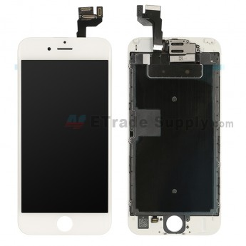 For Apple iPhone 6S LCD Screen and Digitizer Assembly with Frame and Small Parts (without Home Button) Replacement - White - Grade A