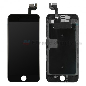For Apple iPhone 6S LCD Screen and Digitizer Assembly with Frame and Small Parts (without Home Button) Replacement - Black - Grade A