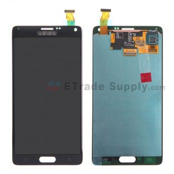 For Samsung Galaxy Note 4 SM-N910/N910A/N910V/N910P/N910T/N910F/N910H/N910R4 LCD and Digitizer Assembly Replacement - Black - With Logo - Grade S