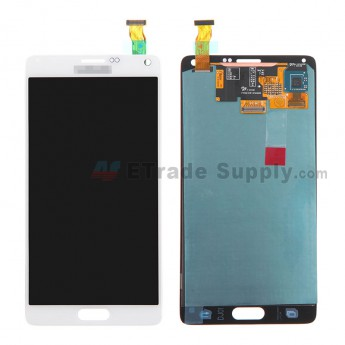 For Samsung Galaxy Note 4 SM-N910/N910A/N910V/N910P/N910T/N910F/N910H/N910R4 LCD and Digitizer Assembly Replacement - White - With Logo - Grade S
