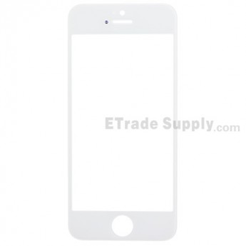 For Apple iPhone 5S Glass Lens Replacement - White - Grade R