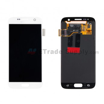 For Samsung Galaxy S7 SM-G930/G930F/G930A/G930V/G930P/G930T/G930R4/G930W8 LCD Screen and Digitizer Assembly Replacement - White - With Logo - Grade A