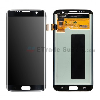 For Samsung Galaxy S7 Edge SM-G935/G935F/G935A/G935V/G935P/G935T/G935R4/G935W8 LCD and Digitizer Assembly Replacement - Black - With Logo - Grade S