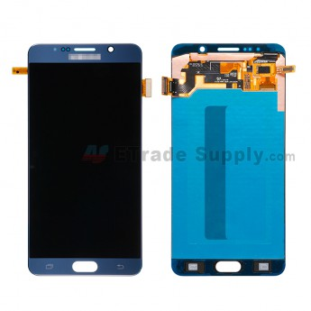 For Samsung Galaxy Note 5 SM-N920F/N920T/N920A/N920P/N920V/N920R4 LCD Assembly with Stylus Sensor Film Replacement - Sapphire - With Logo - Grade A