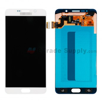 For Samsung Galaxy Note 5 SM-N920F/N920T/N920A/N920P/N920V/N920R4/N920C LCD Assembly with Stylus Sensor Film Replacement - White - With Logo - Grade S