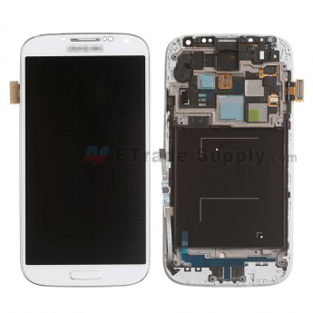 For Samsung Galaxy S4 SCH-I545/R970/L720 LCD Screen and Digitizer Assembly with Front Housing Replacement - White - With Logo - Grade A