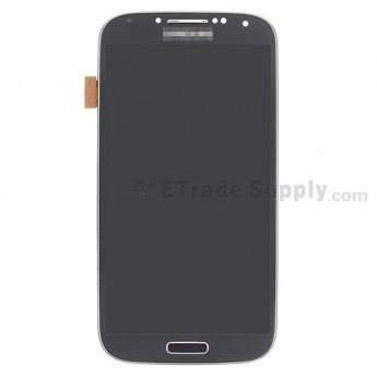 For Samsung Galaxy S4 SGH-I337 LCD Screen and Digitizer Assembly with Front Housing Replacement - Black - Grade A