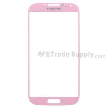 For Samsung Galaxy S4 GT-I9500/I9505/I545/L720/R970/I337/M919/I9502 Glass Lens Replacement - Pink - Grade R