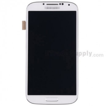 For Samsung Galaxy S4 SPH-L720 Complete Front Housing Assembly with LCD Screen and Digitizer Replacement - White - Grade S+
