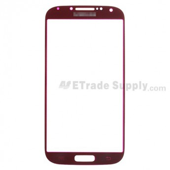For Samsung Galaxy S4 GT-I9500/I9505/I545/L720/R970/I337/M919/I9502 Glass Lens Replacement - Dark Red - Grade R
