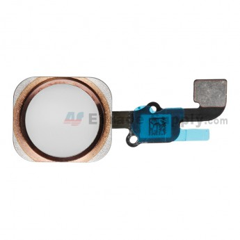 For Apple iPhone 6S/6S Plus Home Button Assembly with Flex Cable Ribbon Replacement - Rose Gold - Grade R