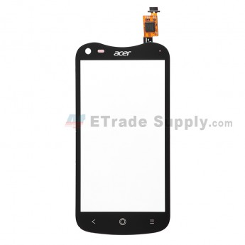 For Acer Liquid E2 Duo V370 Digitizer Touch Screen  Replacement - Black - With Logo - Grade S+