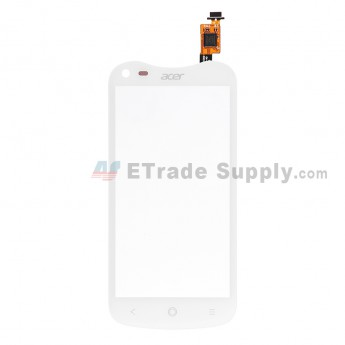 For Acer Liquid E2 Duo V370 Digitizer Touch Screen  Replacement - White - With Logo - Grade S+