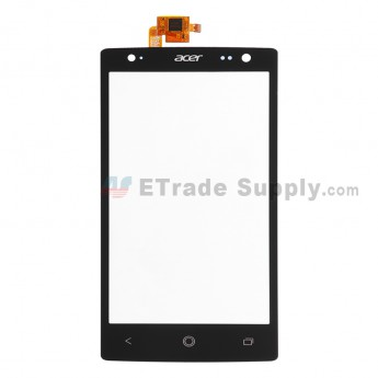 For Acer Liquid E3 E380 Digitizer Touch Screen  Replacement - Black - With Logo - Grade S+