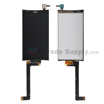 For Acer Liquid E700 LCD Screen and Digitizer Assembly  Replacement - Black - With Logo - Grade S+