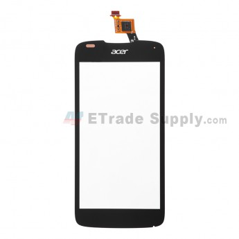For Acer Liquid Gallant E350 Digitizer Touch Screen  Replacement - Black - With Logo - Grade S+