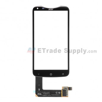 For for Acer Liquid S2 Digitizer Touch Screen  Replacement - Black - With Logo - Grade S+