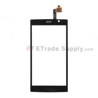 For Acer Liquid Z500 Digitizer Touch Screen  Replacement - Black - With Logo - Grade S+