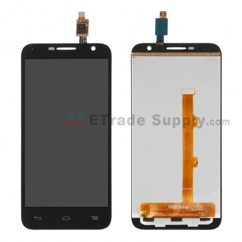 For Alcatel Idol 2 Mini 6016A LCD Screen and Digitizer Assembly  Replacement - Black - Without Logo - Grade S+