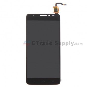 For Alcatel Idol X+ 6043D LCD Screen and Digitizer Assembly Replacement - Black - Without Logo - Grade S+
