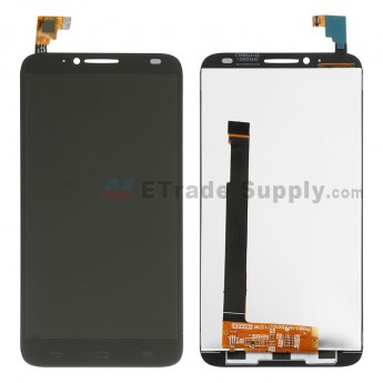 For Alcatel One Touch Idol 2 OT-6037 LCD Screen and Digitizer Assembly Replacement - Black - Without Logo - Grade S+