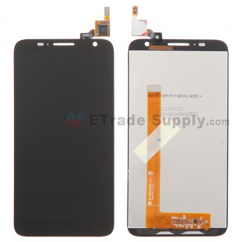 For Alcatel One Touch Idol 2S OT-6050A LCD Screen and Digitizer Assembly Replacement - Black - Without Any Logo - Grade R