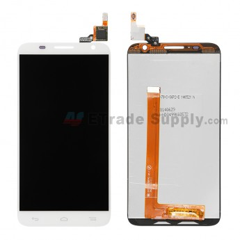 For Alcatel One Touch Idol 2S OT-6050A LCD Screen and Digitizer Assembly Replacement - White - Without Logo - Grade S+