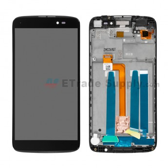 For Alcatel One Touch Idol 3 LCD Screen and Digitizer Assembly with Front Housing Replacement (5.5 Inches) - Black - Without Logo - Grade S+