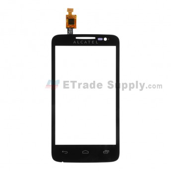 For Alcatel One Touch M'Pop OT-5020 Digitizer Touch Screen Replacement - Black - With Logo - Grade S+