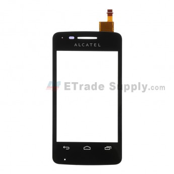 For Alcatel One Touch Pixi 4007X Digitizer Touch Screen  Replacement - Black -With Logo - Grade S+
