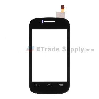 For Alcatel One Touch Pop C1 OT-4015 Digitizer Touch Screen  Replacement - Black - Without Logo - Grade S+