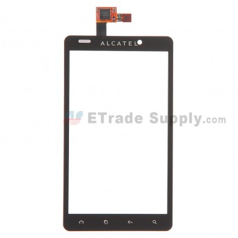 For Alcatel One Touch Ultra 960C Digitizer Touch Screen  Replacement - Black - With Logo - Grade S+