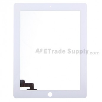 For Apple iPad 2 Digitizer Touch Screen Replacement - White - Grade A