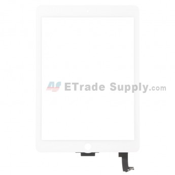 For Apple iPad Air 2 Digitizer Touch Screen Replacement - White - Grade S+