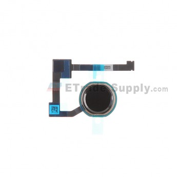 For Apple iPad Air 2 Home Button Assembly with Flex Cable Ribbon Replacement - Black - Grade S+