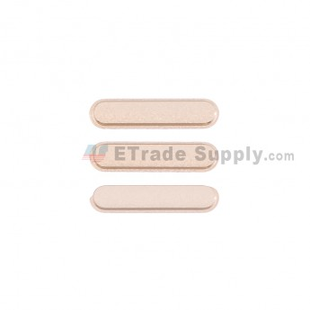 For Apple iPad Air 2 Side Keys  Replacement (3 pcs/set) - Gold - Grade S+